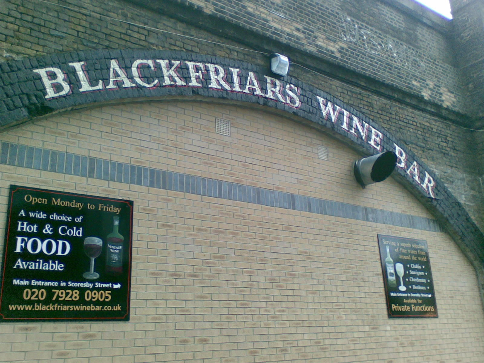 Blackfriars Wine Bar, London 2006