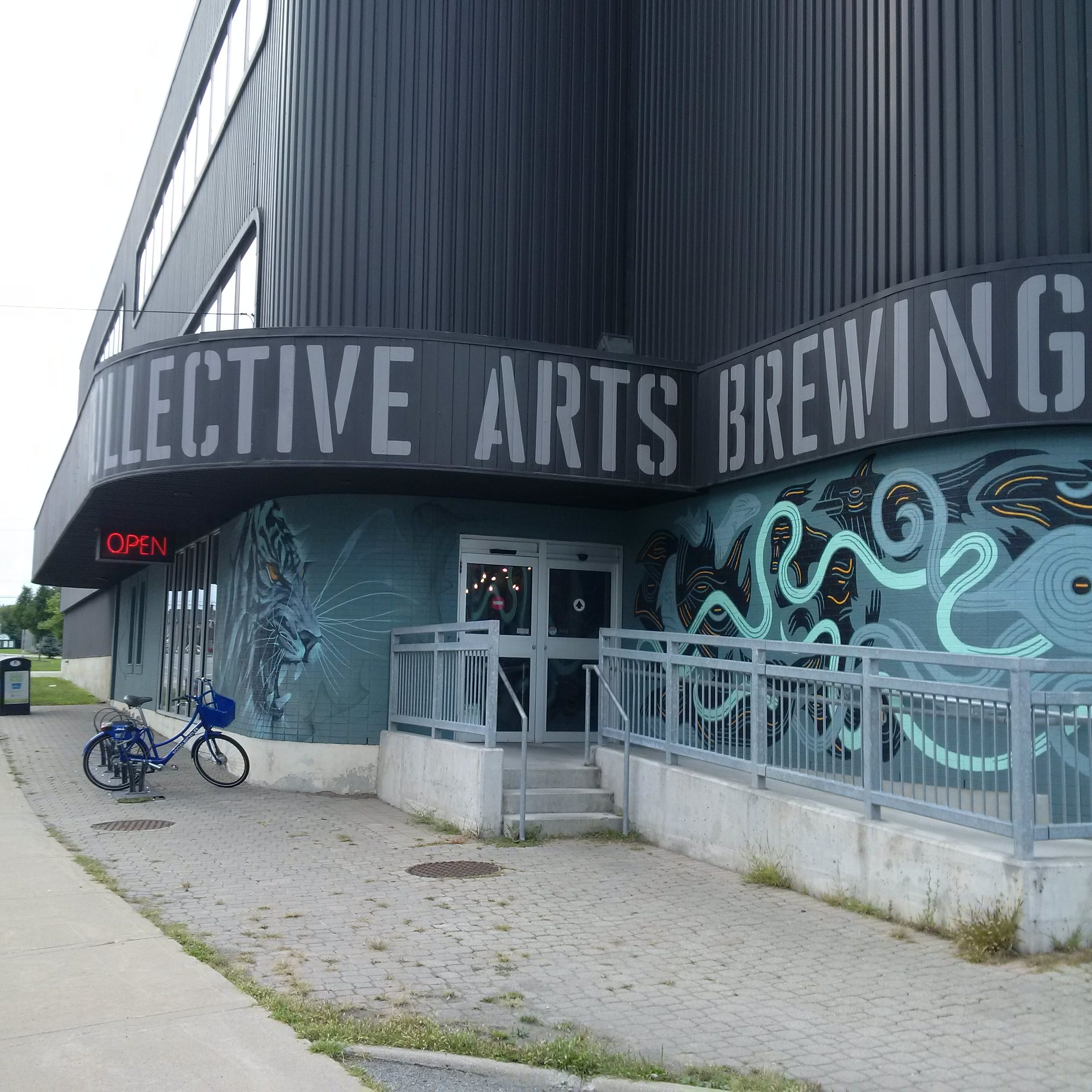 Hand painted lettering at Collective Arts Brewing, Hamilton, Ontario 2018