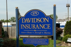 Painted post and panel sign