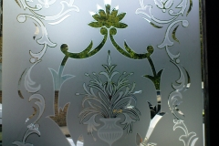 floral frosting Window design 01