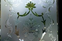 floral frosting Window design 01