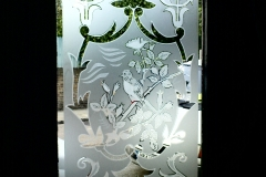 floral frosting Window design 02