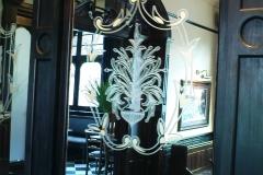 floral frosting mirror design