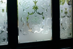 floral frosting Window design 03