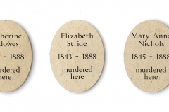 Limestone plaques victims of Jack the Ripper
