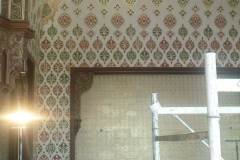 Specialist decorating showing hand-painted and gilded designs