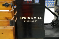 Painted Spring Mill Distillery logo onto original Model T truck, 2018