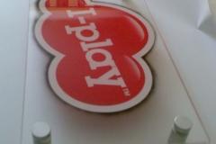 Acrylic logo sign